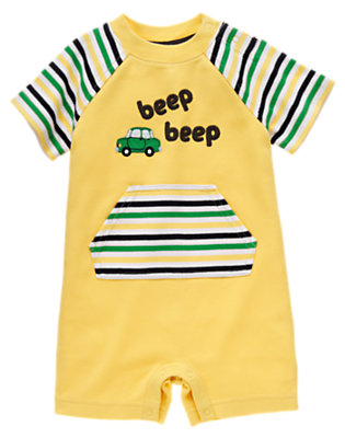 School Bus Yellow Beep Beep Shortie One-Piece by Gymboree
