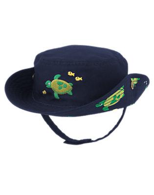 Marine Blue Turtle Bucket Hat by Gymboree