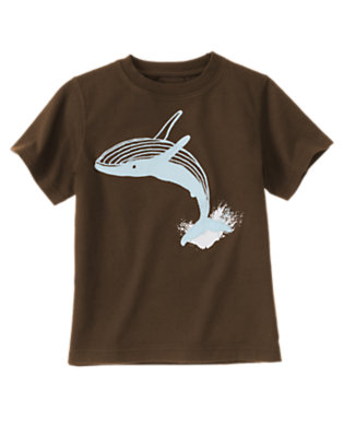 Anchor Brown Leaping Whale Tee by Gymboree