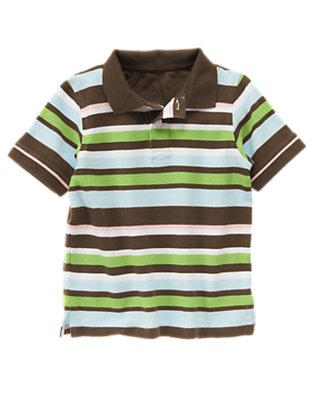 Anchor Brown Stripe Stripe Pique Polo Shirt by Gymboree