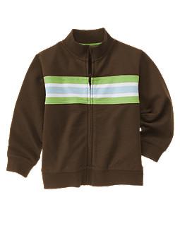 Chest Stripe Zip Jacket