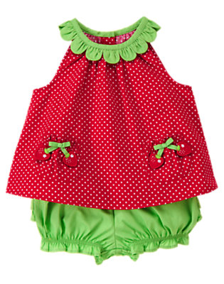 Strawberry Red Dot Strawberry Dot Two-Piece Set by Gymboree