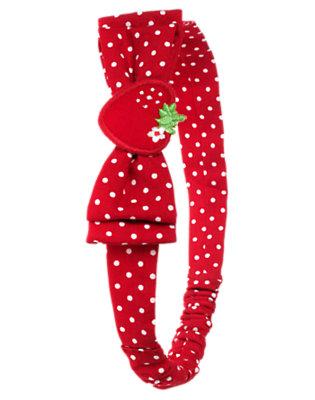 Strawberry Red Dot Strawberry Bow Dot Fruffle by Gymboree