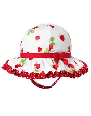 White Strawberry Sunhat by Gymboree