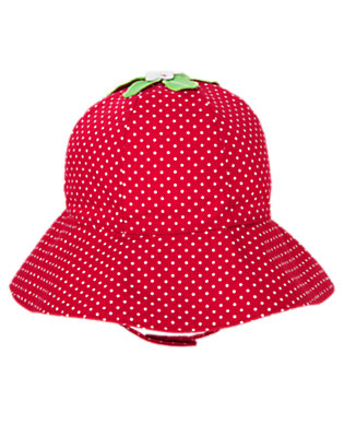Strawberry Red Dot Strawberry Dot Sunhat by Gymboree