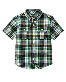 Button Pocket Plaid Shirt