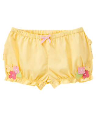 Baby Chick Yellow Flower Ruffle Bloomer by Gymboree