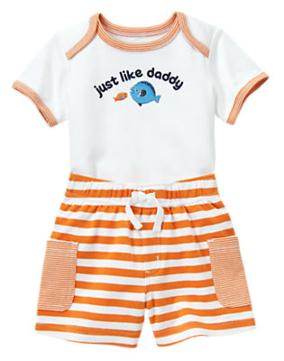 White Just Like Daddy Two-Piece Set by Gymboree