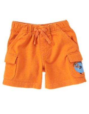 Goldfish Orange Fish Cargo Short by Gymboree