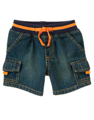 Baby Denim Jean Cargo Short by Gymboree