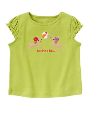 Citrus Green Having A Ball Puppy Tee by Gymboree