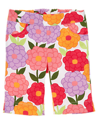 Zinnia Orange Blossom Blossom Capri Pant by Gymboree