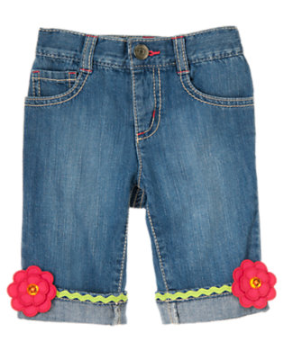 Denim Rickrack Blossom Capri Jean by Gymboree