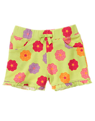 Citrus Green Blossom Ruffle Short by Gymboree