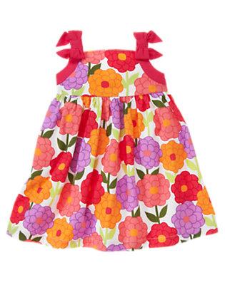 Toddler Girls Zinnia Orange Blossom Bow Blossom Dress by Gymboree