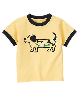 Mustard Yellow Dog Bones Tee by Gymboree