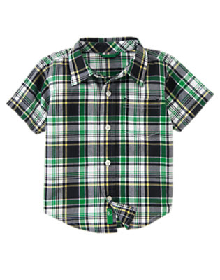 Dark Navy Plaid Dark Navy Plaid Shirt by Gymboree