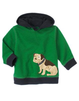 Grass Green Puppy Hoodie by Gymboree