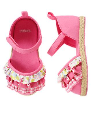 Baby Picnic Pink Ruffle Crib Sandal by Gymboree