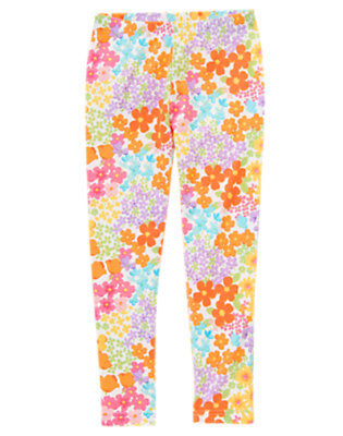 Girls Tulip Pink Blossom Blossom Legging by Gymboree