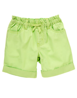 Toddler Girls Daisy Green Bow Cuff Short by Gymboree