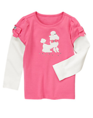 Poodle Pink Poodle Double Sleeve Tee by Gymboree