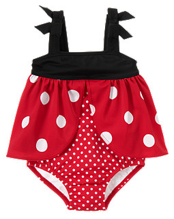 Ladybug Dot One-Piece Swimsuit
