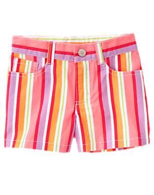 Girls Popsicle Pink Stripe Stripe Short by Gymboree