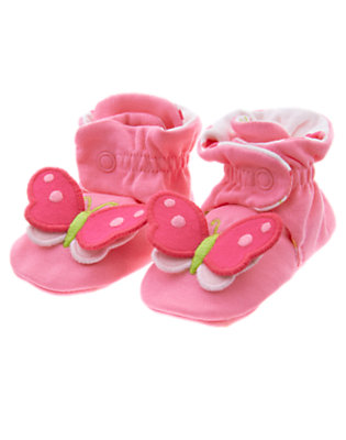 Baby Pink Posy Butterfly Bootie by Gymboree