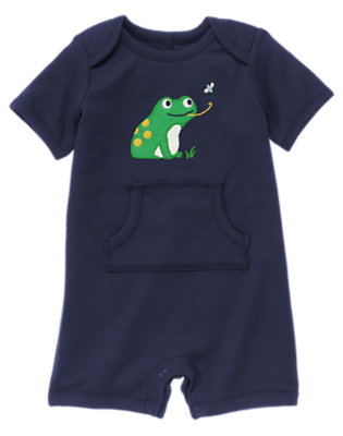 Navy Frog Shortie One-Piece by Gymboree