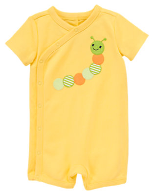 Dandelion Yellow Caterpillar Shortie One-Piece by Gymboree