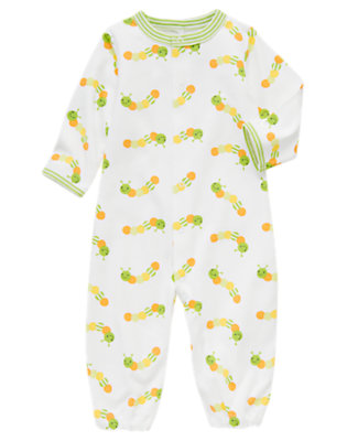 White Caterpillar Convertible One-Piece by Gymboree