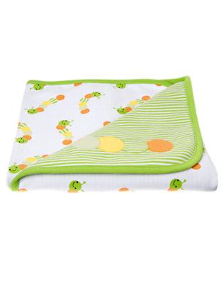 Caterpillar Green Stripe Caterpillar Blanket by Gymboree