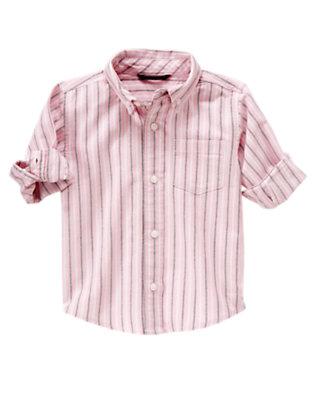 Pink Stripe Oxford Shirt by Gymboree