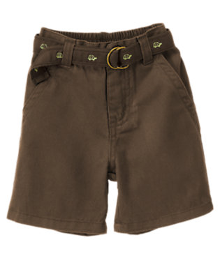 Anchor Brown Belted Twill Short by Gymboree