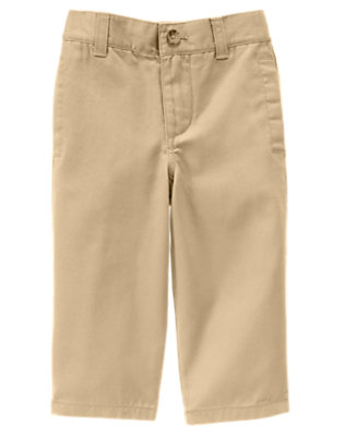 Khaki Twill Pant by Gymboree