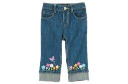 Flower Cuff Jean