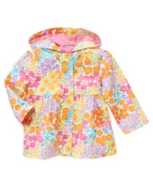 Toddler Girls Tulip Pink Blossom Flower Raincoat by Gymboree