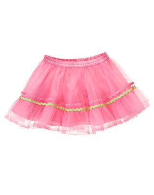 Toddler Girls Pink Posy Rickrack Ribbon Tutu by Gymboree