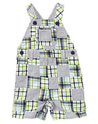 Gator Green Patchwork Gator Green Patchwork Shortall by Gymboree