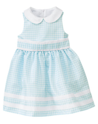 Toddler Girls Dewdrop Gingham Gingham Bow Dress by Gymboree