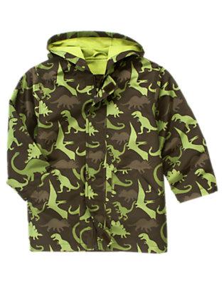Raptor Brown Camo Dinosaur Camo Raincoat by Gymboree