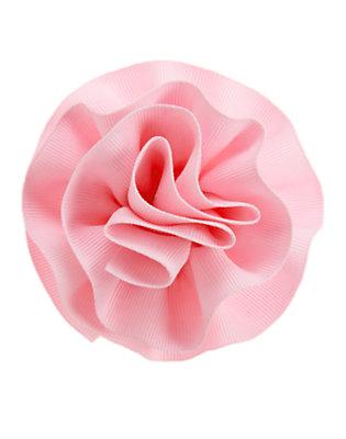 Girls Pink Lemonade Ribbon Rosette Hair Clip by Gymboree