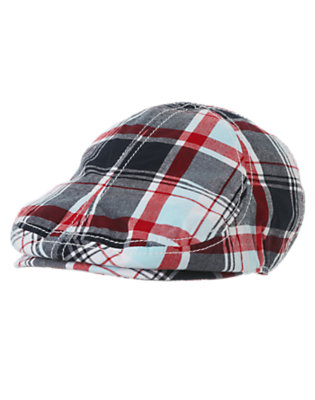 Toddler Boys Athletic Navy Madras Plaid Plaid Hat by Gymboree