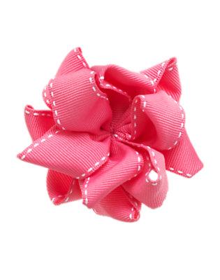 Girls Petal Pink Ribbon Loop Hair Clip by Gymboree