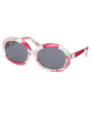 Girls Fairy Pink Blossom Floral Sunglasses by Gymboree
