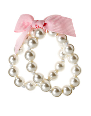 Pearl Pearl Bauble Bow Bracelet by Gymboree
