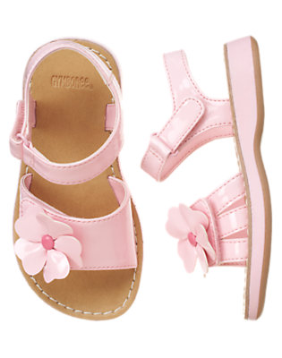 Toddler Girls Fairy Pink Flower Patent Sandal by Gymboree