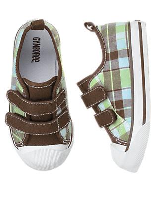 Toddler Boys Sailboat Green Plaid Plaid Sneaker by Gymboree