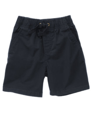 True Navy Pull-On Short by Gymboree